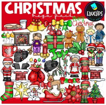 Christmas Clip Art Mega Bundle {Educlips Clipart}