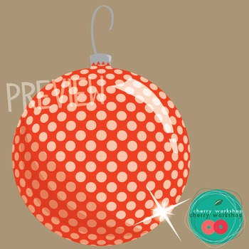 Christmas Clip Art - Patterned Christmas Balls {Commercial Use}