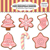 Christmas Clip Art - Pink Clipart - Holiday Graphics - Cute Christmas Cookies