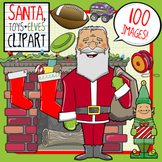 Christmas Clip Art: Santa, Stocking Stuffers, Toys + Elves!