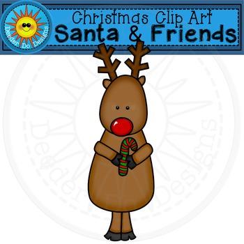 "Christmas Clip Art  ""Santa and Friends"""