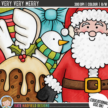 "Christmas Clip Art: ""Very Very Merry"""