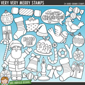 "Christmas Clip Art: ""Very Very Merry"""