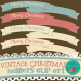 Christmas Banners Clip Art