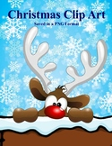 Christmas Clip Art in a PNG format, zipped folder