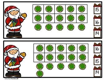 Christmas Clip Cards 1-20