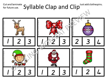 Christmas Clip Cards
