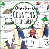 Christmas Clip Cards Counting and Numbers Math Center