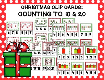 Christmas Clip Cards: Counting to 10 and 20