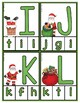 Christmas Clip Cards:  Matching Uppercase & Lowercase Letters