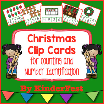 Christmas Clip Cards for Counting and Number Identification