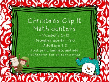 Christmas Clip It: Easy Math Centers for the Holidays
