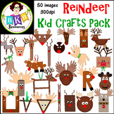 Christmas Clip art ● Reindeer Crafts ● Graphics ● Products for TpT