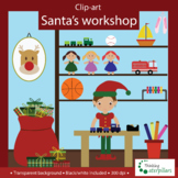 Christmas Clip art, Santa's workshop clip art