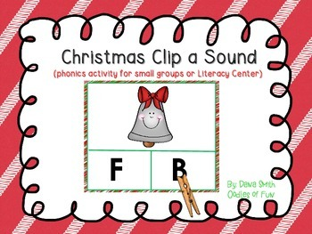 Christmas Clip the Letter Sound (activity for small groups and literacy center)