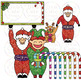 Christmas Clip Art Santa Elf Snowman Gingerbread Angel Pen