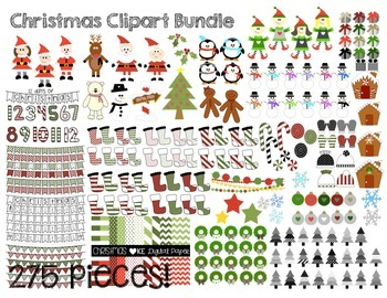 Christmas Clipart- 278 pieces!