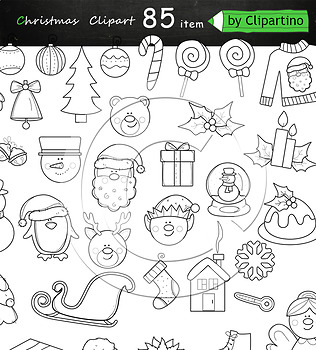 Christmas Clipart Bundle 85 item