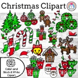 Christmas Clipart {Accents: Santa, Elf, Tree, Stocking, Ca