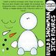 Christmas Clipart {Build a Snowman Stick Figures}