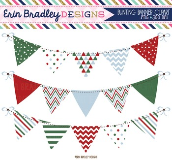 Christmas Clipart Bunting