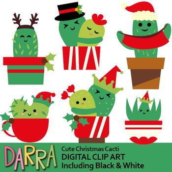 Christmas Cactus Clipart.Christmas Clipart Cactus Clip Art