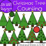 Christmas Clipart - Christmas Tree Counting 0-10 {Jen Hart