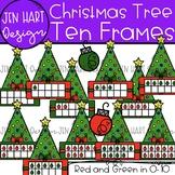 Christmas Clipart - Christmas Tree Math Ten Frames {Jen Ha