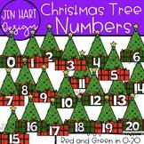 Christmas Clipart - Christmas Tree Numbers 0-20 {Jen Hart