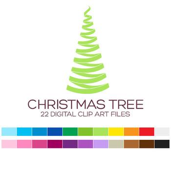 Christmas Clip Art / Christmas Tree Clip Art - A90002