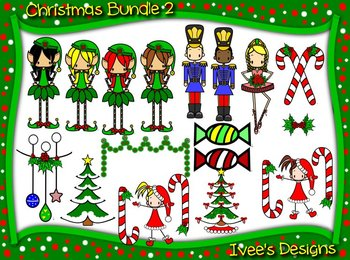 Christmas Clipart- Elves-Ornaments