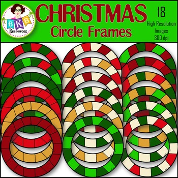 Christmas Clipart ● Circle Frames ● Graphics ● Products for TpT sellers