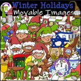 Christmas Clipart Hanukkah Kwanzaa New Year's || MOVABLE I