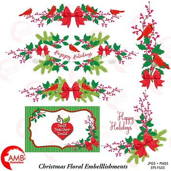 christmas clipart holly cardinals and embellishments clipart amb 1498 christmas clipart holly cardinals and embellishments clipart amb 1498