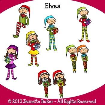 Christmas Clip Art Bundle by Jeanette Baker