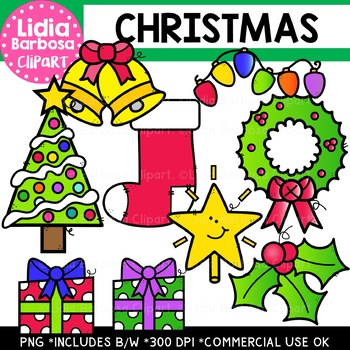 Christmas Clipart {Lidia Barbosa Clipart}
