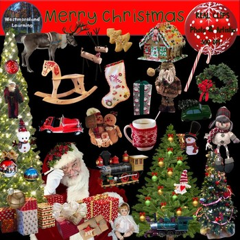 Christmas Clipart Photo & Artistic Digital Stickers Holiday Clip Art