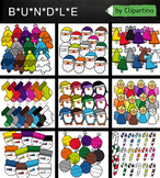 Christmas Clipart Rainbow Bundle