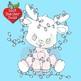 Christmas Clipart, Reindeer Digital Stamps, Cute Baby Baby Reindeer, AMB-2289