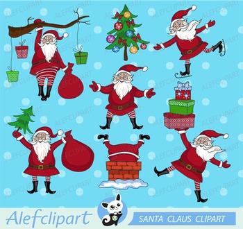 Christmas Clipart, Santa Claus Clipart