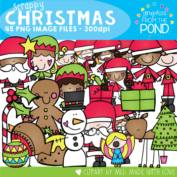 Christmas Clipart {Scrappy Christmas}