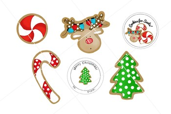 Christmas Clipart Set - cookies - Tinsel and Taylor