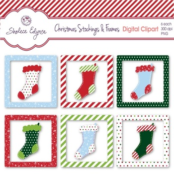 Christmas Clipart Stockings and Frames