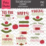 Christmas Clipart // Teacher Clipart // Teacher Appreciation Clipart - Winter126