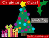 Christmas Clipart and Coloring Sheets by Stella Clips
