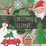 Christmas Clipart by Taracotta Sunrise for Personal or Com