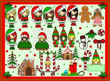 Christmas Clipart for Teachers Bundle