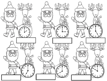 Christmas Clocks and Addition/Subtraction Review