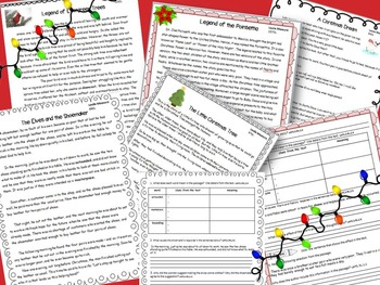 Christmas Close Read 5 Story Bundle FSA Question Stems