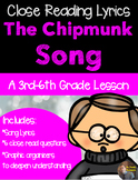 Christmas Close Read- The Chipmunk Song: Christmas Don't Be Late- Grades 3-5
